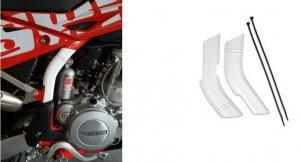 Rahmenschützer weiß entsprechend für RS 300 R, RS 500 R und SM 500 R